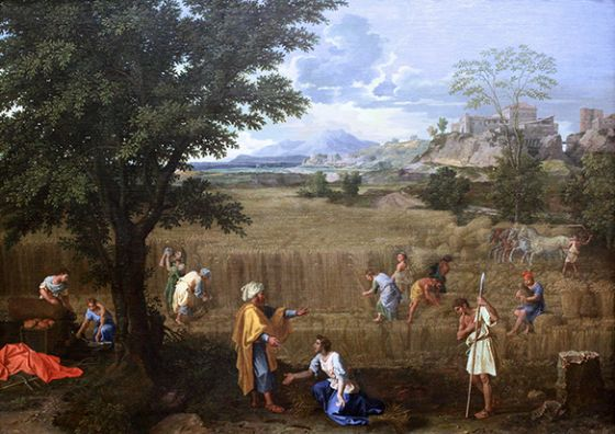 Poussin, Nicolas: Summer, or Ruth and Boaz. Fine Art Print/Poster. Sizes: A1/A2/A3/A4 (003430)